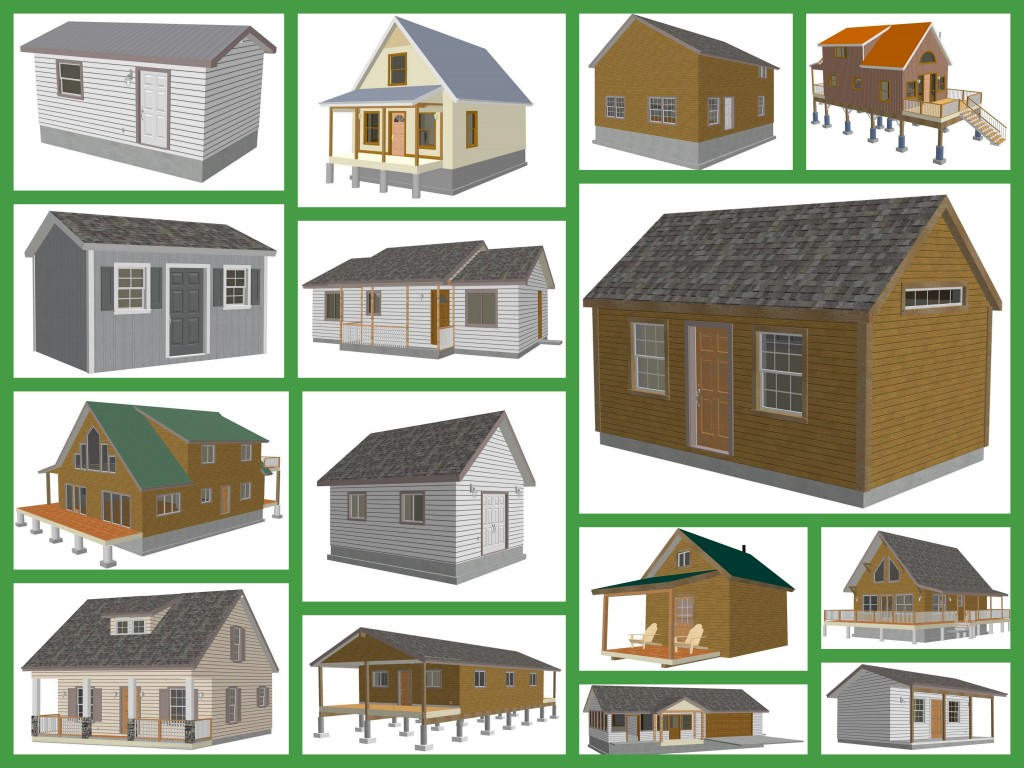 Small cabin and bunk house plans and blueprints Small cabin blueprints free